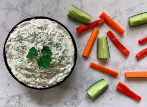 Finished Tzatziki Sauce