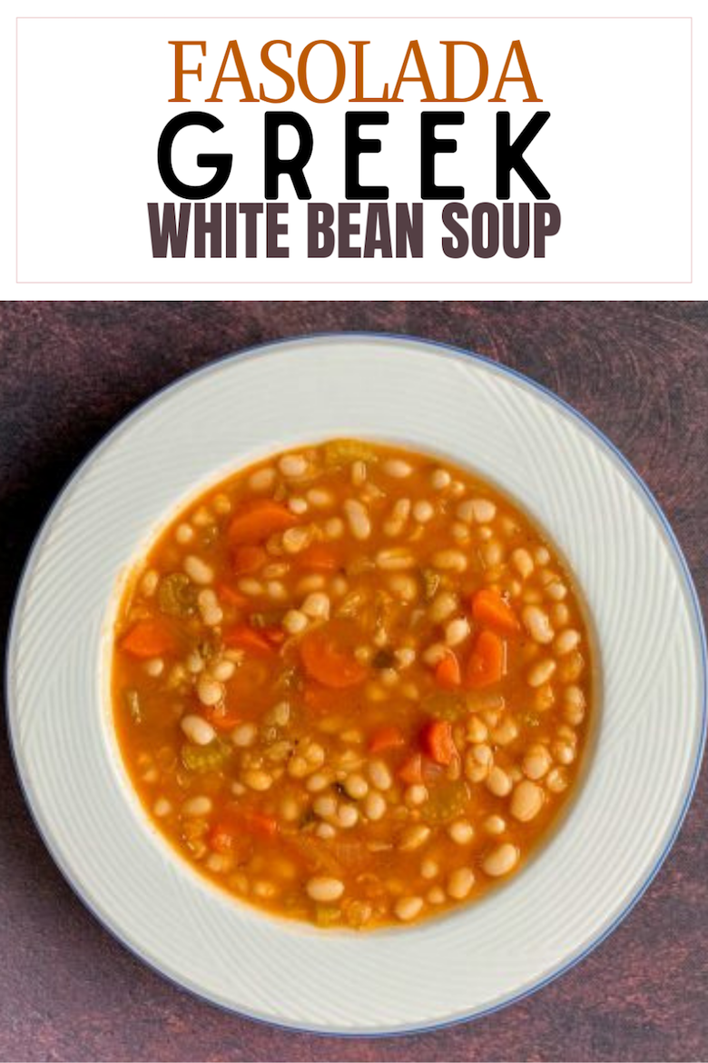 "One of the most popular traditional Greek dishes is bean soup, known as Fasolada. It comes from the word ""fasoli"" meaning ""bean"". It is a hearty and flavorful soup with white beans, olive oil, and vegetables. Our version includes vegetable broth instead of water to add deeper flavor and nutrients. Additionally, it is a perfect dish to prepare and serve during the period of Great Lent since the beans provide high amounts of protein and fiber. via @CookLikeaGreek"