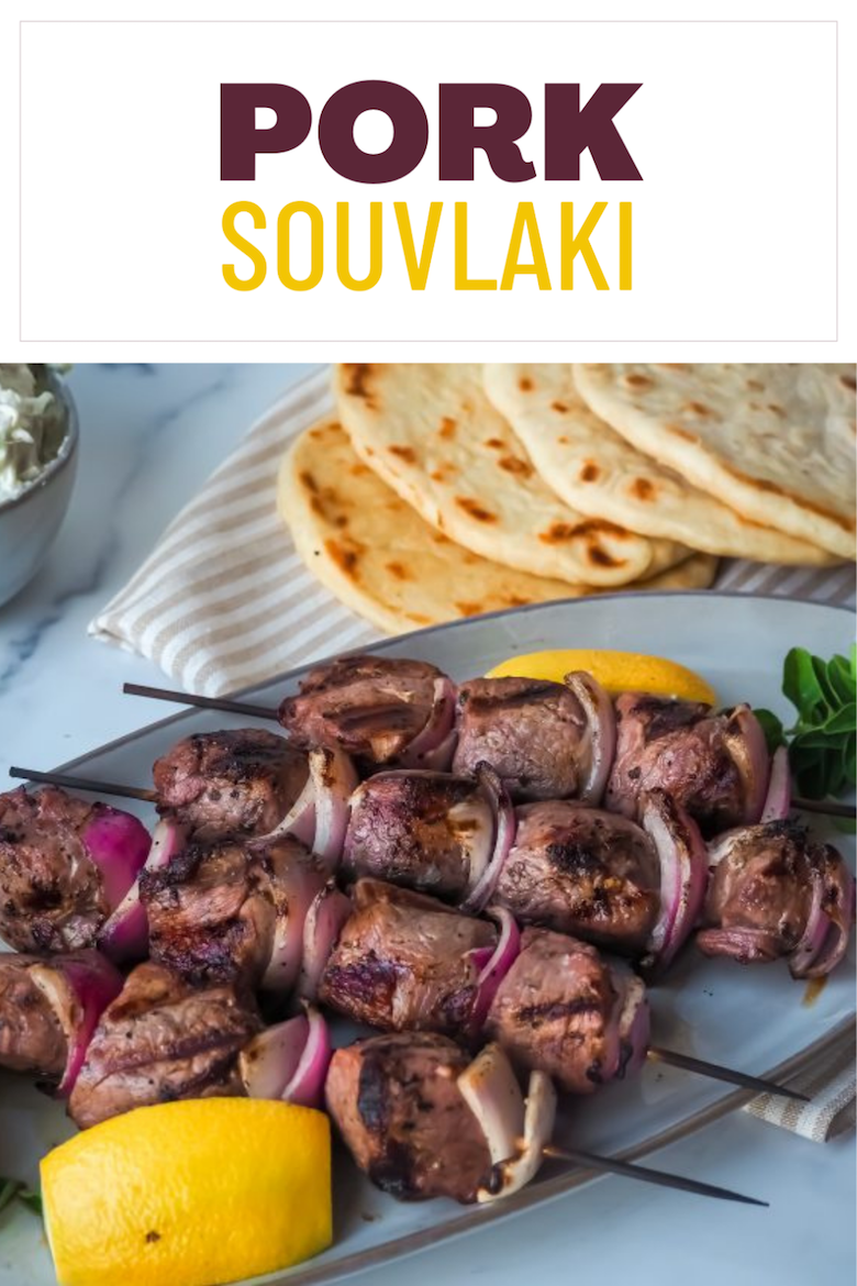 Greek Festival BBQ is all about Souvlaki! Our Pork Souvlaki Recipe is one not to be missed. Tender cuts of pork loin flavored in a savory wine, herb and garlic marinade…and yes, you are quite welcome! via @CookLikeaGreek