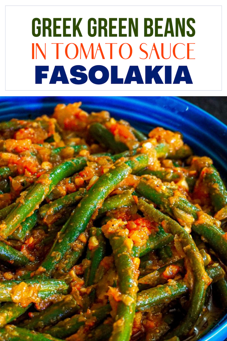 Green Beans never tasted so good! Greek Green Beans in Tomato Sauce – Fasolakia will change the way you think about this vegetable! via @CookLikeaGreek