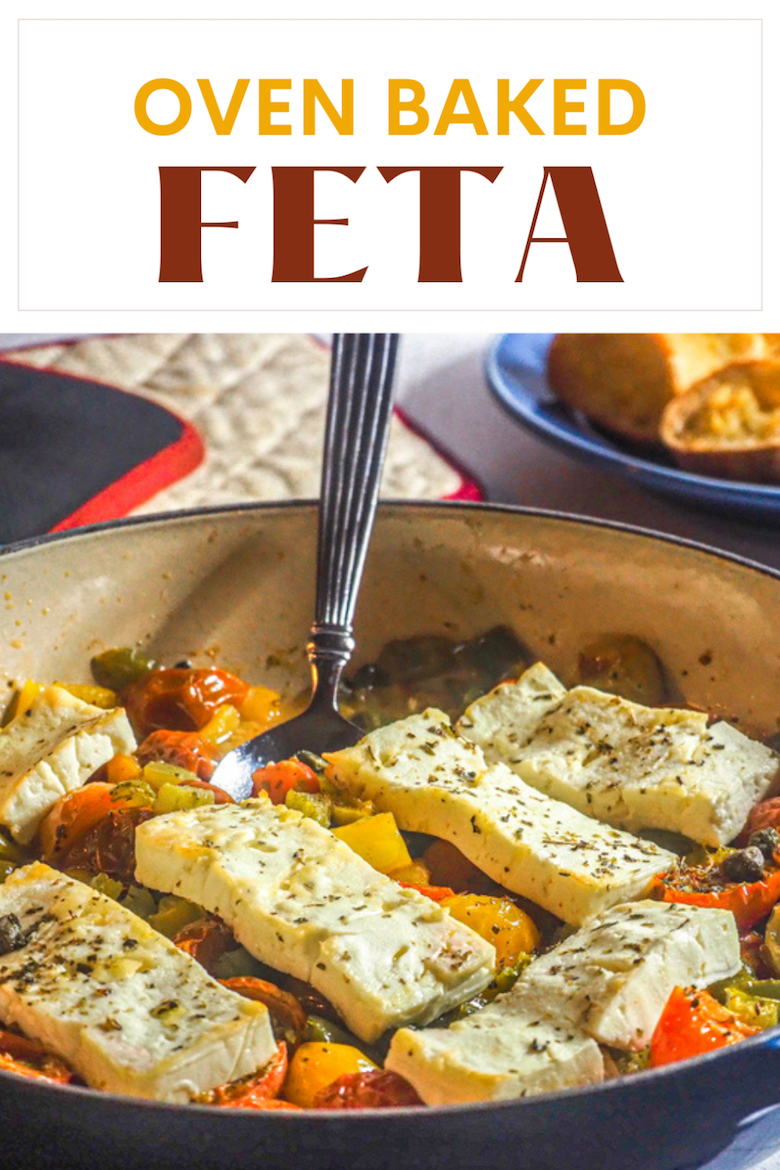 Feta Sto Fourno, is my version of a traditional Cretan appetizer. The traditional version is simpler as you place the feta slices on the bottom of a baking dish and layer slices of green bell pepper and sliced tomato then top off with extra virgin olive oil and Greek oregano. via @CookLikeaGreek