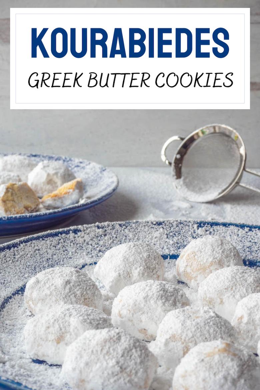 Kourabiedes Recipe – Greek Butter Cookies via @CookLikeaGreek