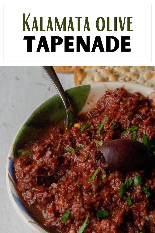 Kalamata Olive Tapenade via @CookLikeaGreek