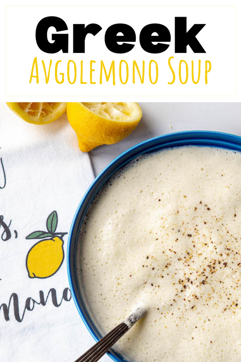 Avgolemono translates into egg-lemon, which are the two key ingredients added to the chicken broth and rice to make this creamy and tangy soup. via @CookLikeaGreek